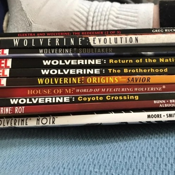 Lot of 10 Wolverine Graphic Novels.